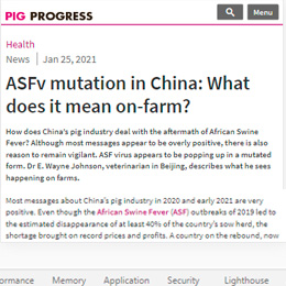 ASFv mutation in China: What does it mean on-farm?